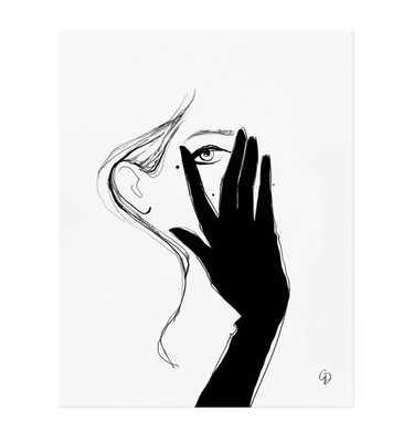 Glove - 8 x 10 - Framed (White) - riflepaperco.com