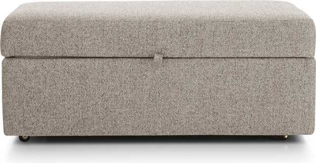 Lounge II Storage Ottoman with Tray - Crate and Barrel