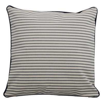 """Stripes Throw Pillow - Navy - 16"""" H x 16"""" W - Eco-fill - Wayfair"""