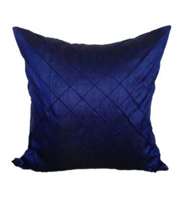 "Indigo Blue Decorative Pillow Cover - 20""SQ (Insert needed) - Etsy"
