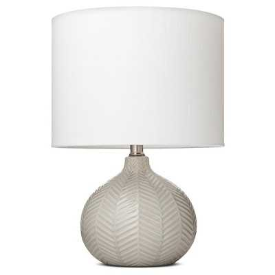 Herringbone Ceramic Table Lamp - Gray (Includes CFL Bulb) - Threshold - Target