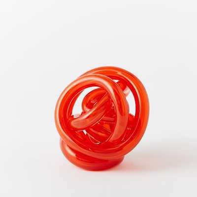 Glass Knot - Orange - West Elm