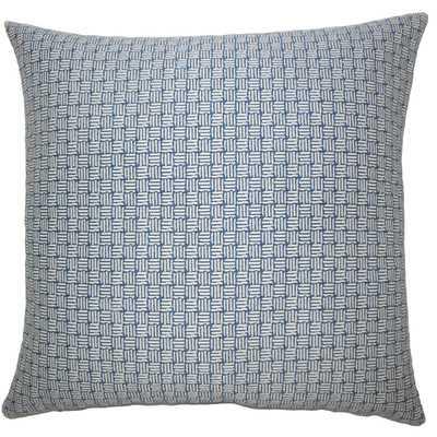 "Nahuel Geometric Throw Pillow Cover, Navy, 18"" H x 18"" W, No Insert - Wayfair"