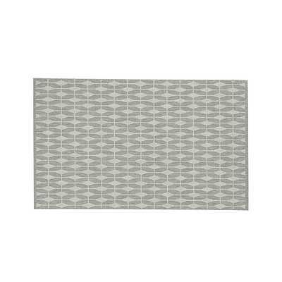 Aldo Dove Grey Indoor-Outdoor 5'x8' Rug - Crate and Barrel