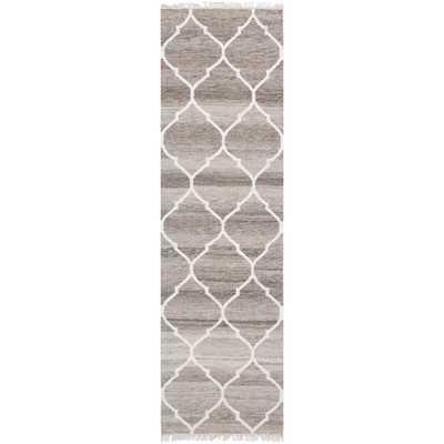 Safavieh Hand-woven Natural Kilim Light Grey/ Ivory Wool Rug (2'3 x 8') - Overstock