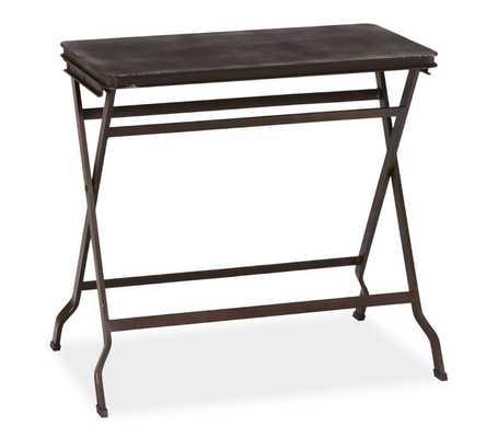 Carter Metal Folding Table - Black - Pottery Barn
