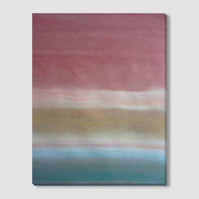 Sarah Campbell Canvas Print - Warm Tone Stripe - West Elm