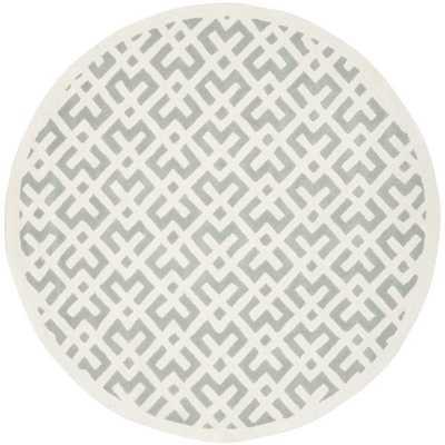 Safavieh Handmade Contemporary Moroccan Gray Wool Rug (7' round) - Overstock