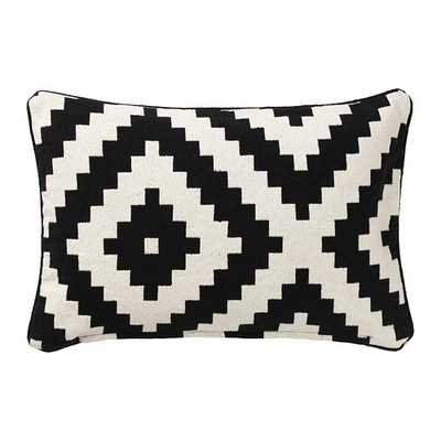LAPPLJUNG RUTA Cushion cover, white, black - Ikea
