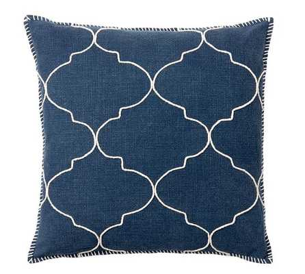 """Tile Embroidered Pillow Cover-22""""-no insert - Pottery Barn"""