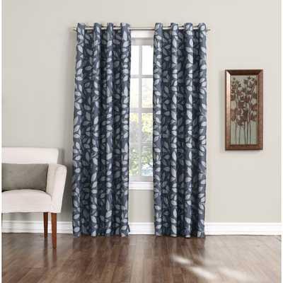 "Cordell Single Curtain Panel - 63"" - Indigo - AllModern"