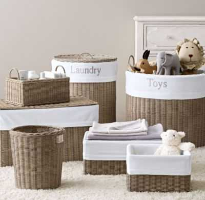 rutherford storage collection & bordered cotton liners - RH