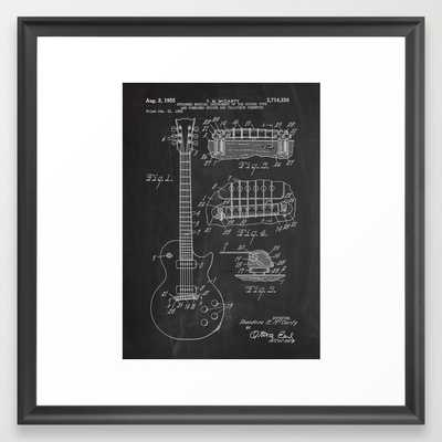 "Guitar Patent - 12"" x 12"" - Framed - Society6"
