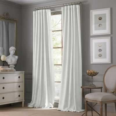 "Valeron Estate Cotton Linen Window Curtain Panel in White- 54"" W x 95""L - Bed Bath & Beyond"