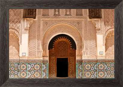 Ben Youssef Medersa - framed- canvas - Photos.com by Getty Images