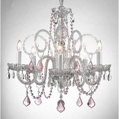 Gallery Venetian Style All-crystal Chandelier with Color Crystal - Overstock