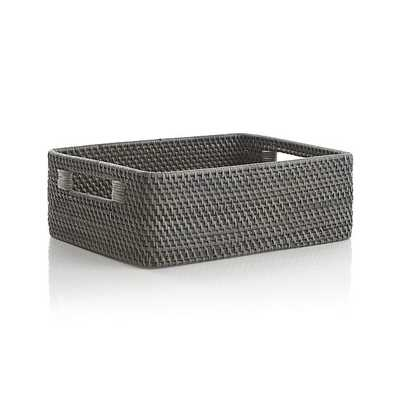 Sedona Grey Low Open Tote - Crate and Barrel