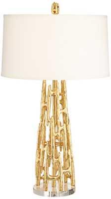Paragon Gold Leaf Table Lamp - Lamps Plus