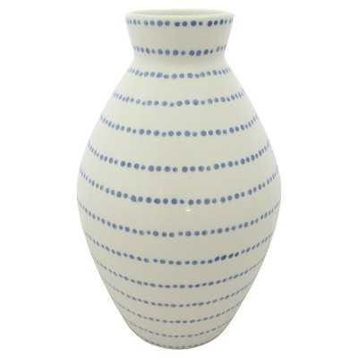 "Tall Stoneware Blue Dots Vase - Thresholdâ""¢ - Target"