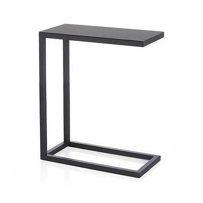 Avenue Black C Table - Crate and Barrel