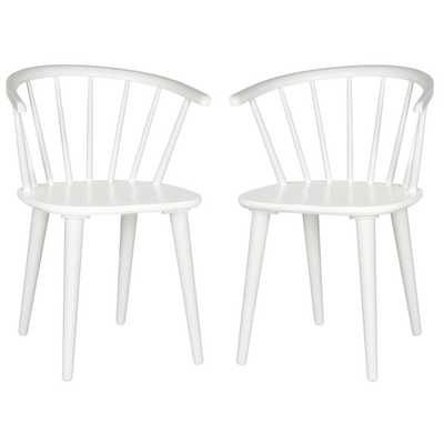 Safavieh Blanchard White Side Chair (Set of 2) - Overstock