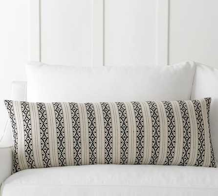 """Ariana Stripe Jacquard Pillow Cover - 14""""x36"""" - Insert Sold Separately - Pottery Barn"""