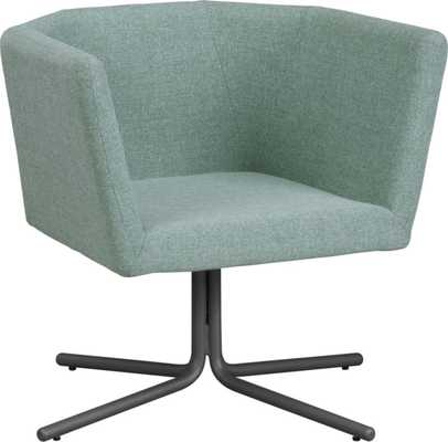 Facetta cyan chair - Tweed cyan - CB2