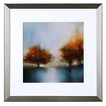 Morning Mist 2 - 28.5''W x 28.5''H -Champagne finish moulding frame - Z Gallerie