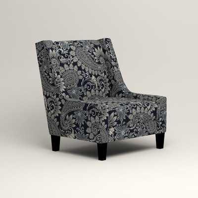 Nelson Chair - Wallace Midnight Paisley - Wayfair