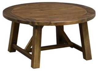 Jelina Round Coffee Table, Natural - One Kings Lane