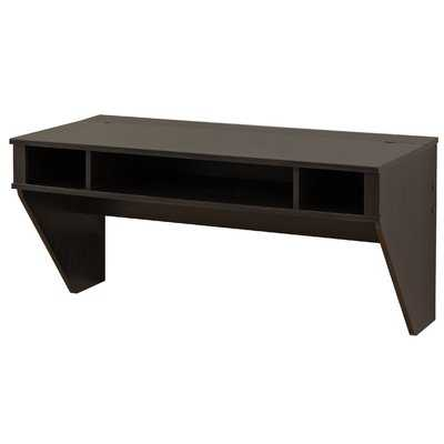 Designer Floating Desk - Washed Ebony - Wayfair