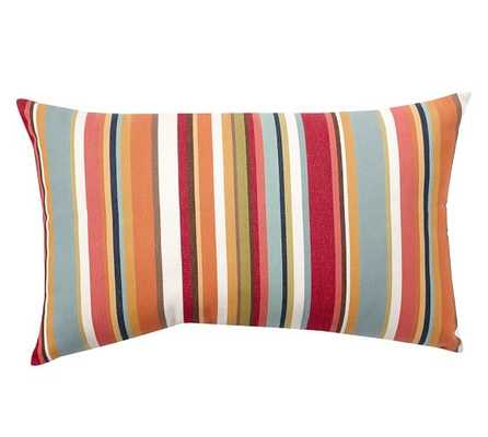 """OUTDOOR GIORGIA STRIPE LUMBAR PILLOW- 16"""" wide x 26"""" long.- With insert - Pottery Barn"""