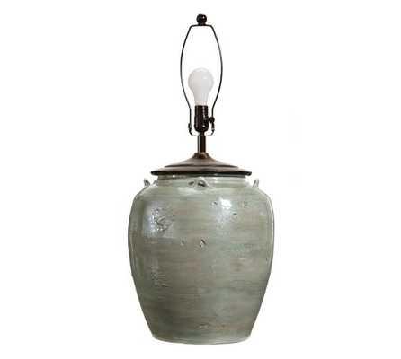 Courtney Ceramic Table Lamp Base - Blue; Large - Pottery Barn