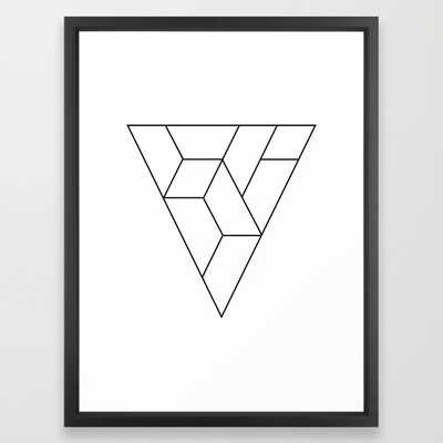 """Triangle 20"""" X 26"""" Framed - Society6"""