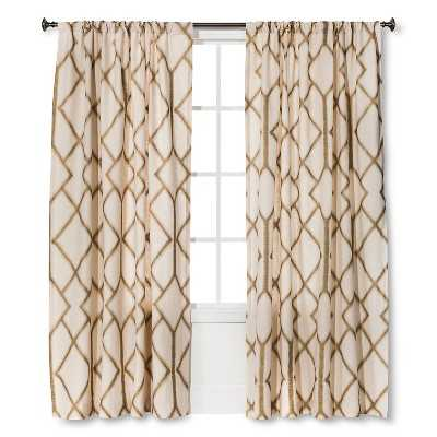 "Thresholdâ""¢ Metallic Curtain Panel-Gold-84"" - Target"