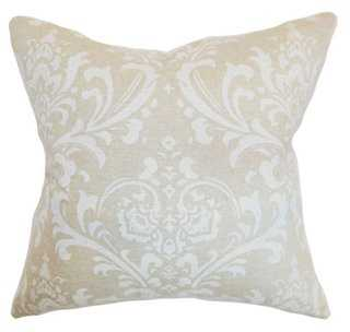 Olavarria 18x18 Cotton Pillow, Ivory,  insert, down/feather - One Kings Lane