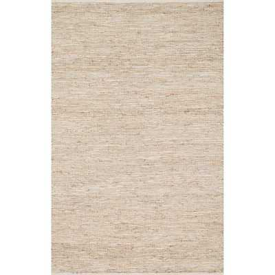 Hand-woven Arrow Earth-tone Leather and Jute Rug (5'0 x 7'6) - Overstock