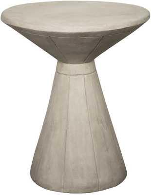 PEDESTAL SIDE TABLE-FIBER CEMENT - HD Buttercup