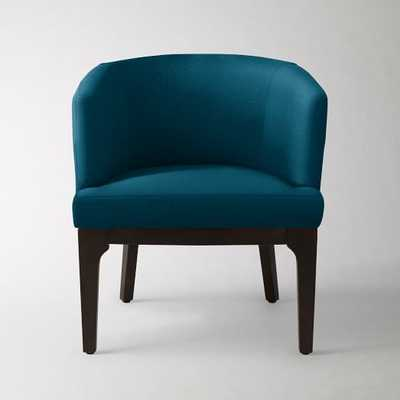 Oliver Chair -  Performance Velvet, Lagoon - West Elm