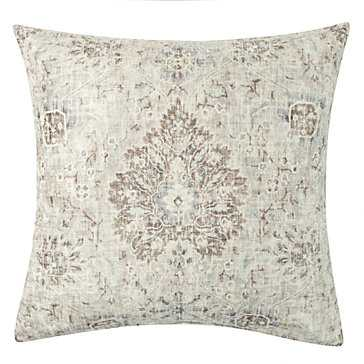 "Pompeii Pillow 24"" - Pearl and ivory - Feather and down insert - Z Gallerie"