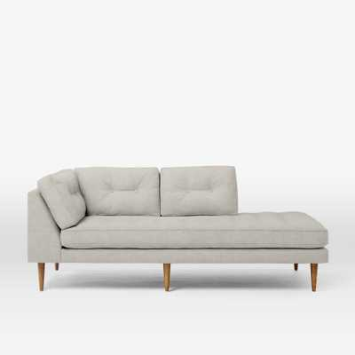 Peggy Mid-Century Right Arm Terminal Chaise - Domino