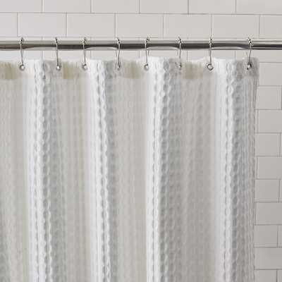Waffle Grommet Shower Curtain - White - West Elm