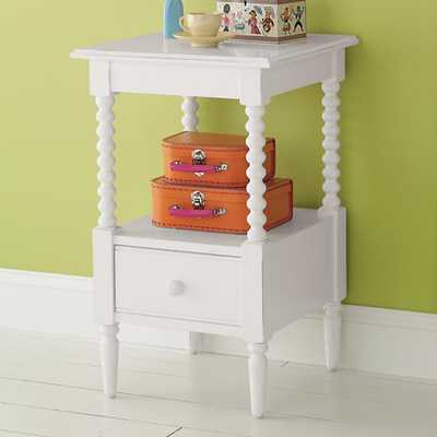 White Jenny Lind Small Nightstand - Land of Nod