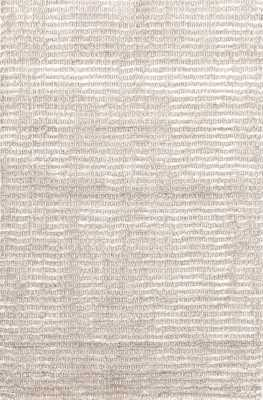 CUT STRIPE IVORY HAND KNOTTED RUG - 8' x 10' - Dash and Albert