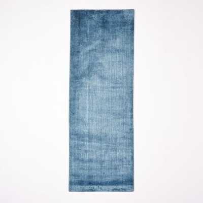 Hand-Loomed Shine Rug - Blue Lagoon - 2.5'x7' - West Elm