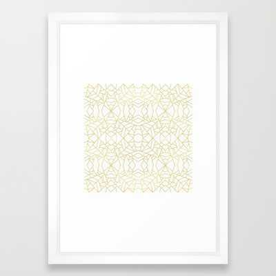 Gold Lace - framed - Society6
