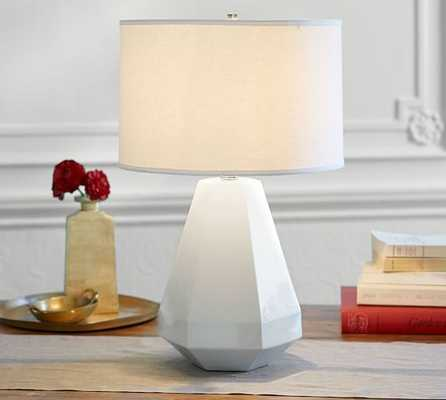 Halle Faceted Ceramic Lamp - Pottery Barn