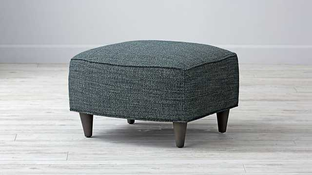 Toby Ottoman- Tribeca Peacock - Land of Nod
