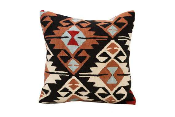 Vintage Kilim Textile Pillow - insert included - Etsy