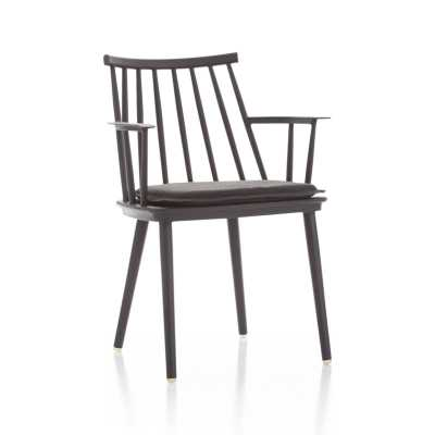 Union Charcoal Dining Arm Chair with Sunbrella ® Cushion - Crate and Barrel
